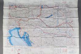 Cold War Silk Escape Map of Europe, 1953- War Office.