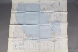 Cold War Escape Map, 1953- War Office silk map of Russia. Double- sided, Baku and Rasht No. N K.