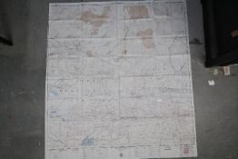 Cold War USAF Operational Navigational Silk Chart, 1950- (CL-400) Niger River and (CL-401) Tibesti.