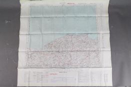 Cold War Fabric Survival Map of Turkey 1951- Double-sided, published by the War Office.