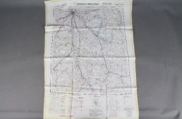 Cold War Silk Escape Map of Russia, 1953- War Office Restricted map of Russia North 137.