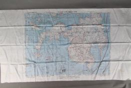 """WW2 Silk Survival Chart, 1944- US """"AFF CLOTH CHART - Philippine Series"""", double-sided. No."""