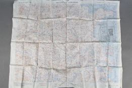 """WW2 Silk Survival Chart, 1944 -US """"AFF CLOTH MAP - Asiatic Series"""", double-sided, South East China,"""