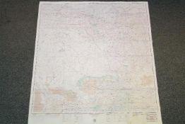 Cold War USAF Operational Navigational Fabric Chart, Russia,