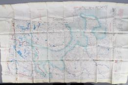 Cold War Fabric Escape Map of Europe,1953- Archangelsk (Archangel) and Namsos.