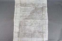 WW2 Silk Escape Map of North Africa- Undated, double-sided sheet K3/H2.
