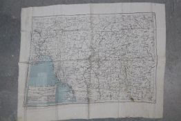 WW2 Silk Escape Map of Burma and Siam. Undated. Double-sided. Fair condition, some staining.
