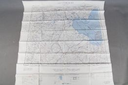 """WW2 Silk Survival Chart, 1944 -US """"AFF CLOTH CHART - Eastern Asia"""", double-sided,"""
