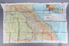 Rare WW2 British RAF Silk Escape Map, 1944-French Indo China and Siam Double-sided,