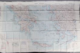 Cold War Fabric Survival Map of Europe,