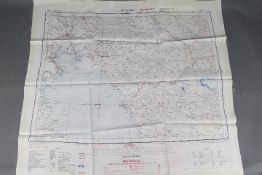 Cold War Silk Escape Map- War Office Restricted map of Tehran and Bushire.