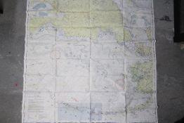 WW2 Silk USAF Cloth Chart, 1947 - Alaska (CL-54) and Aleutian Islands (CL-55), double-sided,