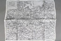 Rare WW2 RAF Silk Escape Map of Germany and Hungary - A.D.I. (Maps) Air Ministry, No. 7330.