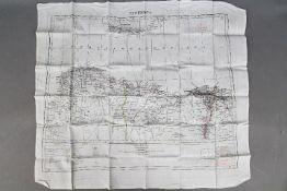WW2 Silk Escape Map of North Africa- Undated,