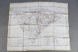 WW2 Silk Escape Map-Kenya Colony and Juba, and Somaliland. Undated. Double-sided.