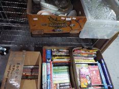 Job Lot - five boxes containing glassware, ceramics,