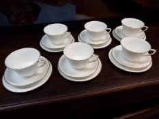 Royal Worcester - a six place setting tea service decorated in the Strathmore pattern