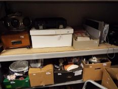 Job lot - a very large mixed lot to include a vintage record player, CD Player,