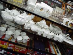 A quantity of white glazed 'Countryware' and similar dinner and tea wares,
