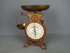 A set of vintage Swedish kitchen scales.