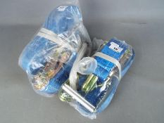 Two unused lorry straps and clips 2 x 33 (lor2c) This lot must be paid for and collected (or