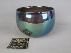 John Ditchfield for Glasform, an iridescent bowl, signed to the base and dated 1982,