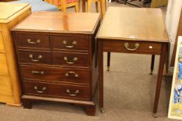 19th Century mahogany Pembroke table and Georgian commode chest (2).