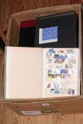 Collection of pre and post Great Britain sheet stamps (three folders), PHQ Post Office cards,