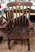 Elm seated farmhouse style armchair.