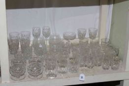 Collection of assorted glasses and sundae dishes, etc.