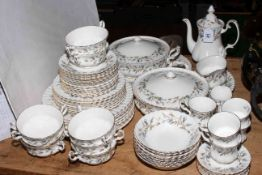 Collection of Royal Albert Brigadoon dinner and tea ware.