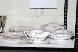 Twenty five piece Royal Worcester 'Bernina' dinner service.