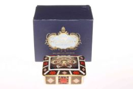Royal Crown Derby Imari box.