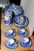 Copeland Spode Italian blue and white pottery including tureen.
