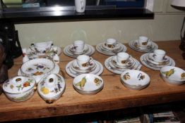 Collection of Royal Worcester Evesham including tureens, gravy boat, cups and saucers,