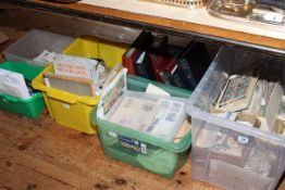 Six boxes of assorted stamps, albums, first day covers.