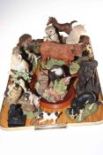 Collection of animal ornaments including Border Fine Arts, Aynsley, etc.