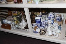 Ringtons, Aynsley and other china, horse group, glass tankards, etc.