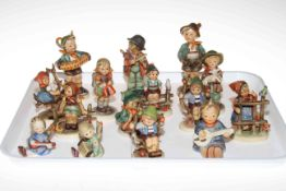 Fifteen Hummel figures.
