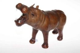 Leather hippo, length 30cm.