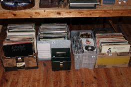 Six boxes of LP, single and 78rpm records and CD's.