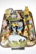 Collection of twenty four Royal Doulton Winnie the Pooh figures, some limited edition.