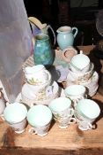 Old Royal bone china forty piece tea set and four pieces of pottery including Delatoft shell bowl.