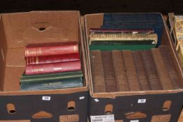 Two boxes of vintage books including Cassells History of England volumes.