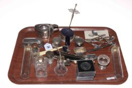 Collection of silver and silver plates, coins, etc.