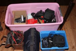 Collection of digital cameras, camcorder, Avometer, Playstation and games, etc.