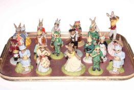 Collection of twenty Royal Doulton Bunnykins figures.