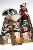 Collection of ten Royal Doulton character jugs.