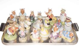 Collection of nineteen Royal Doulton Brambley Hedge figures.
