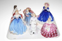 Collection of six Royal Doulton figures including Morning Breeze.